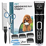 Dog Clippers, Dog Grooming Kit Professional, Heavy Duty High Power Dog Grooming Clippers