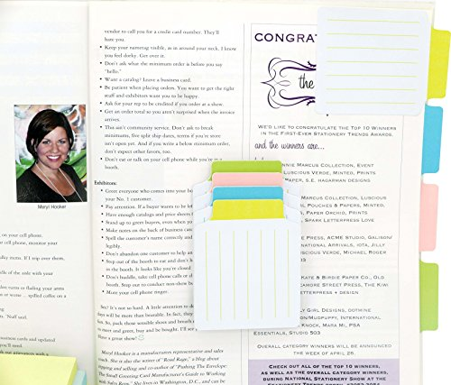 4A Divider Sticky Notes,Note Tabs,3 3/8 x 2 3/4 Inches,160 Gsm White Paper,Lined,15 Sheets/Divider,4 Divders/Pack,Self-Stick Notes,60 Sheets Total,4A 40607