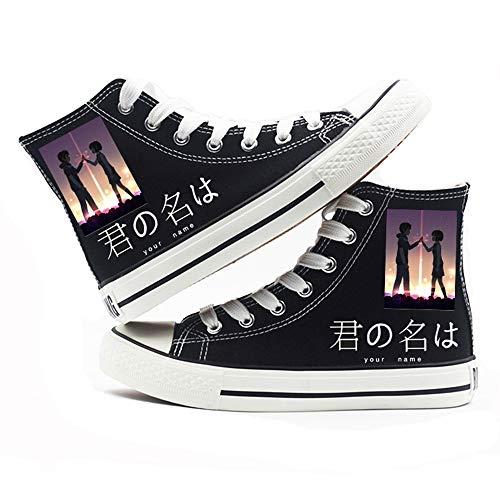Boyijj Your Name Zapatos de Lona Hombres y Mujeres de Verano con Suela Gruesa, Transpirables, para Estudiantes, Zapatillas Informales para Mujeres,39 EU