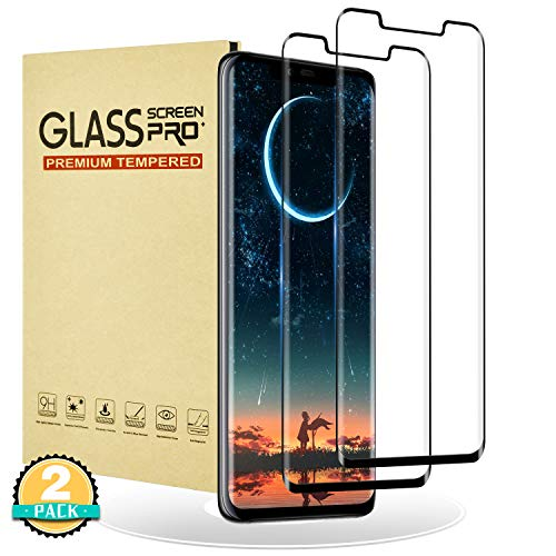 RIIMUHIR Huawei Mate 20 Pro/Mate 20 RS Panzerglas Folie [2 Stück] Huawei Mate 20 Pro/ 20 RS schutzfolie [Vollbildabdeckung] 3D-Touch Anti-Kratzen Anti-Fingerabdrücke HD-Bildschirmschutz für Mate 20 Pro