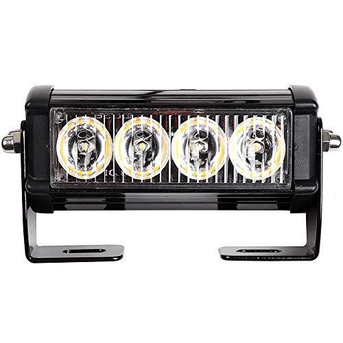 2 unids 4leds 12V / 24V LED Luz estroboscópica de recuperación de AMBER, Luz de barra de la rejilla de emergencia parpadeante de la camión, lámpara de advertencia a prueba de agua para camión