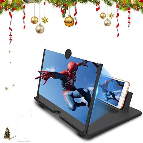 CHANG Lupe , 14-Zoll Bildschirm Vergrößerungsglas, Ausziehbarer HD Bildschirm gegen Blaulicht, Bildschirmlupe Ständer für das Ansehen von Filmvideos auf Alle Smartphone, (schwarz)