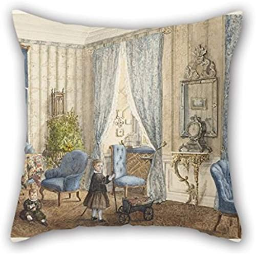 ZHVW Oil Painting Countess Schoenberg - Salon Siebleben, Near Gotha, Germany Pillowcover 16 X 16 Inch/40 By 40 Cm Best Choice For Gril Friend,family,boy Friend,her,boys,indoor With Both Sides