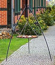 BlackOrange XXL Schwenkgrill 200 cm mit Kurbel und XXL Grillrost Durchmesser 100 cm aus Stahl