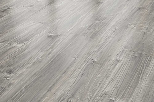 FLOOR24 Laminat Landhausdiele Spaltholz grau 7 mm