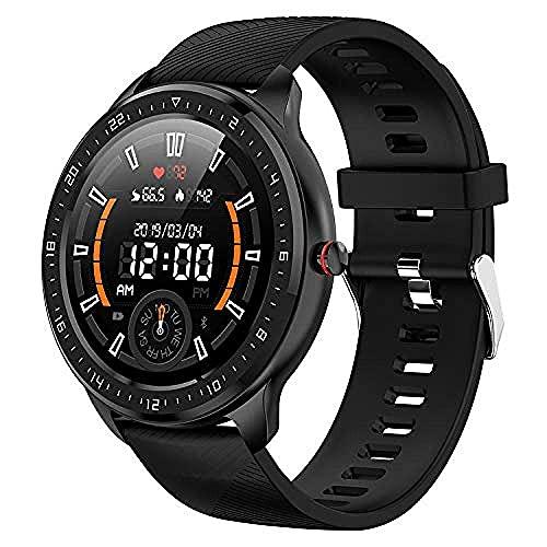 SVUZU Reloj Conectado, Actividad;Rastreador de Actividad física con frecuencia cardíaca, presión Arterial y Monitor de sueño Smartwatch Resistente al Agua para Hombres y Mujeres