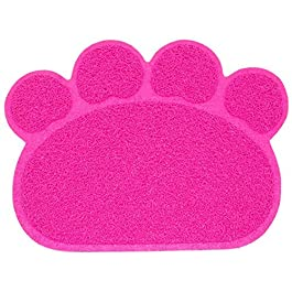 HHXXTTXS Dog Cat Litter Mat Puppy Kitty Dish Feeding Bowl Placemat Tray Tidy Easy Cleaning Sleeping Pad