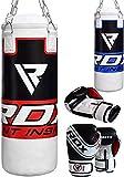 RDX MMA Boxing Bag Niños Relleno de Muay Thai Kick Boxing Artes Marciales con Guantes Entrenamiento Junior Saco de Boxeo