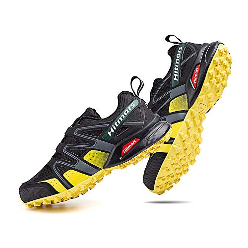 Zapatillas De Trail Running Impermeables para Hombre Mujer Zapatillas Trekking Zapatos Senderismo Deporte Amarillo Talla44