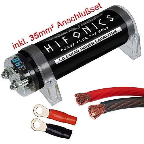 Hifonics HFC1000-1 Farad Powercap + 35mm² Anschlußset