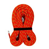 M MUDFOG UIAA Certified 200ft Kernmantle Red Static Rope 11mm - for Rock Climbing, Rappelling, Canyoneering, Rescue, Hauling and Mountaineering