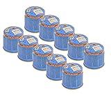 bahama 10 cartuchos de gas butano universales de 190 g para hornillo de camping