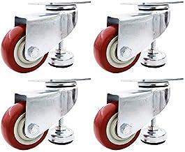 Katigan Heavy Duty Casters 4-Pack draaibare polyurethaan wielen elk met verstelbare nivellerende voeten om wielslijtage te...