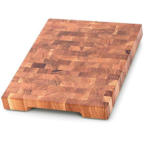 End Grain Wood cutting board - Wood Chopping block - Large cutting...