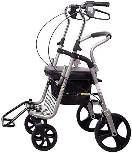 Rabbfay Leichtklapp Einkaufswagen, Modern Pull Push Cart Mit Abnehmbarer Einkaufstasche, Für Grocery Shopping, Einkaufen, Reisen, Geschenke, Camping,1