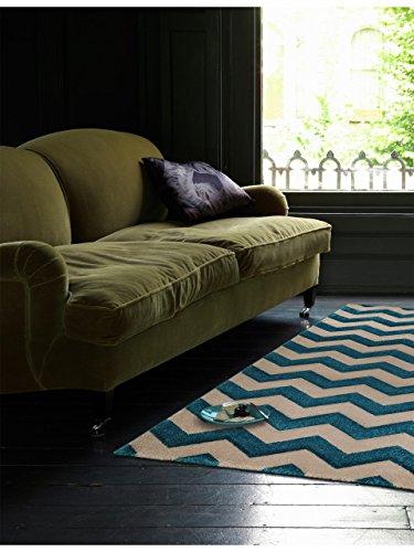 benuta Tapis Nagual Bleu 80 x 150 cm | Tapis Moderne pour Salon et Chambre à Coucher