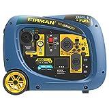 Firman 2900W Running / 3200W Peak Electric Start Dual Fuel Inverter Generator Gas and LP