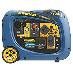 in budget affordable Firman 2900W Operation / 3200W Top Electric Start Dual Fuel Inverter Generator, Gas and LPG