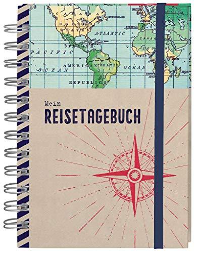Moses Reisetagebuch | Tagebuch zum Festhalten von Gedanken und Eindrücken aus dem Urlaub | Für die Lust am Reisen | 120 Seiten inkl. Einstecktaschen und Aufbewahrungslaschen, 82474