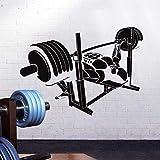 HGFDHG Etiqueta engomada del Gimnasio Etiqueta engomada de la Aptitud Bodybuilding Solapa Vinilo Etiqueta de la Pared Decoración de la habitación Mural