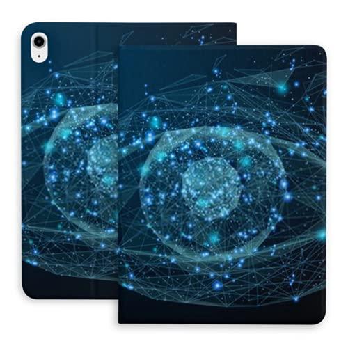Funda para iPad Air 4ta generación Low Poly Wireframe Technology Eye Futuristic iPad Air 4 Case (10.9 Pulgadas, 2020) / iPad Pro 11'2018 con portalápices, Soporte Triple Funda Inteligente con respal