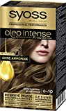 SYOSS Oleo Intense Permanente Öl-Coloration, Haarfarbe 6-10 Dunkelblond, mit pflegendem Öl & ohne...