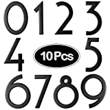 10 Pieces 2.8 Inch Mailbox Numbers 0-9, Self-Adhesive Door Numbers, Address Numbers, Street Numbers for Window, Signs, Door, Cars, House Mailbox, Office (Black)