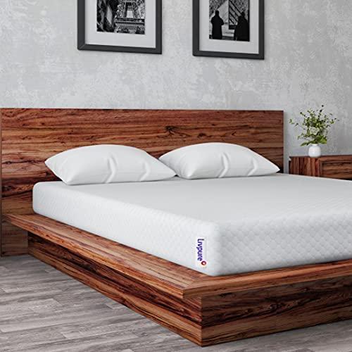 "Livpure Smart Regal 8"" Memory Foam + Single Size Firm Latex Mattress (72x36x8 Inches)- White"