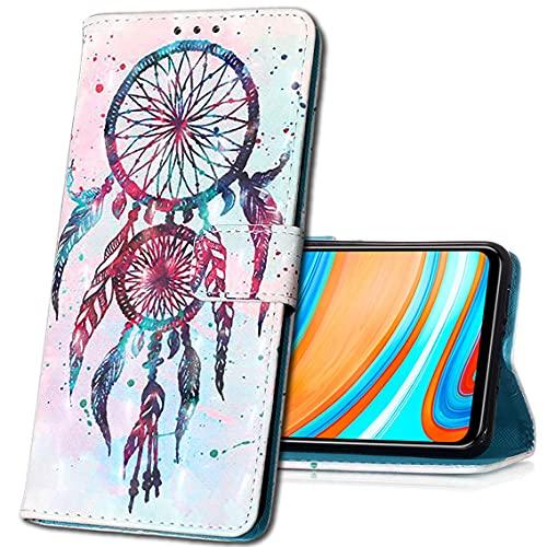 MRSTER LG K40 Custodia, 3D Moda Custodia Flip Premium Protettiva Portafoglio PU Pelle Phone Case Cover per LG K40. YB Double Campanula