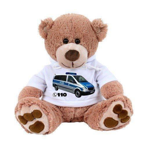 TE-Trend Notruf Lernbär Teddybär Kuschelbär Schlaubi 110 Polizei ca. 36cm