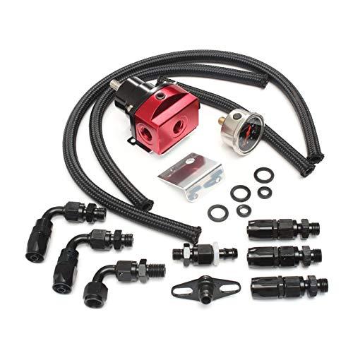 Racing Car Billet Regulador de presión de Combustible Kit de guía Línea de Aceite 100PSI Guage FPR AN6 Manguera de Aceite Fitting EFI para Autos