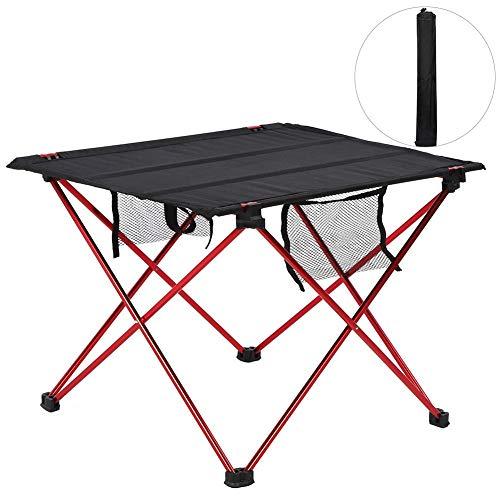 Fdit Mesa de Camping Ultraligera, Mini Mesa Plegable portátil Multifuncional al Aire Libre Barbacoa Mesas de Picnic para Acampar Comedor y Cocina 55.5x40cm