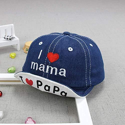 Mode Denim Baby Hat Enfants Casquettes de baseball Summer Boy Fille Sun Chapeaux Baby Caps (Bleu foncé)