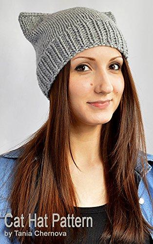 Cat Hat Knitting Pattern Knit Hat Pattern Cat Ears Cat Beanie Pattern Cat Ear Hat Mütze Katze Anleitung Cat Ear Beanie Animal Hat Womens Hats Bonnet Femme Animal Ear Hat (English Edition)
