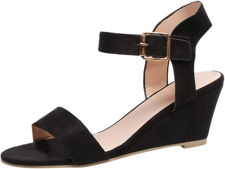 Hoxekle Women Sandals Wedges Summer Casual shoes Buckle Strap Roman Gladiator Sandals Fashion Woman Sandal