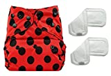 Bumberry Reusable Diaper Cover and 2 Wet Free Inserts