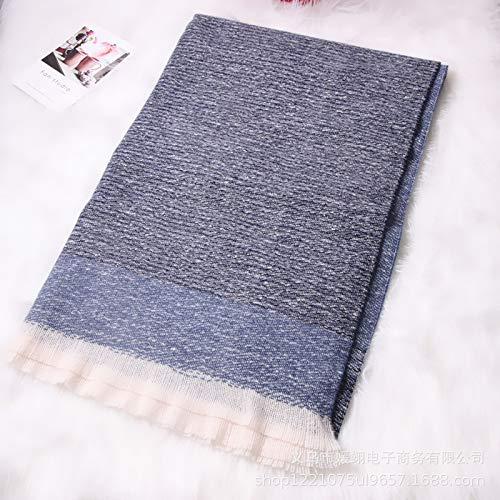 HKHJN herfst en winter warme kasjmier sjaals Ms. oversized sjaal monochroom kort haar Koreaanse wilde kraag paar gift