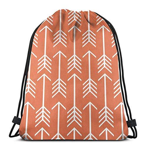 ARRISLIFE Bolsa de Gimnasio,Bolsa de Entrenamiento con cordón,Mochila de Viaje,Mochila Escolar,Bolsas de Hombro,Arrow Macon Apache Orange Drawstring Bags