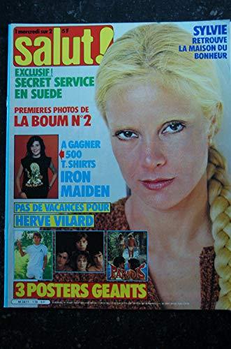 Salut ! 178 21 juillet au 3 août 1982 Sylvie Cover + 4 p. -Iron Maiden - Hervé Vilard - Secret Service - Sardou - Incomplet
