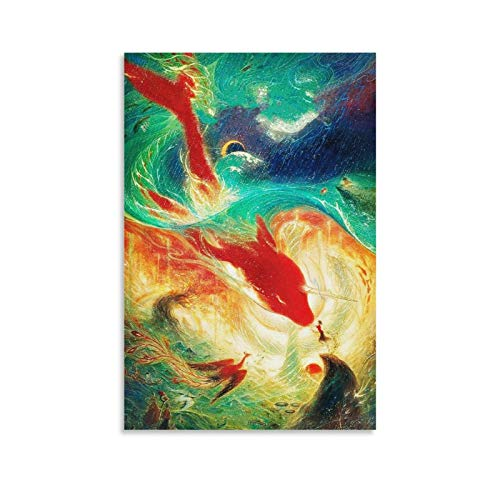 Póster de anime Big Fish & Begonia Love Is HD 4K decorativo lienzo de pared arte para sala de estar, dormitorio, pintura 20 x 30 cm