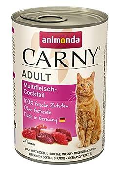 Animonda Carny Croquettes Mix2, Nourriture humide pour Chat Adulte, Mélanger 2 de 4 variétés, 12 x 400 g
