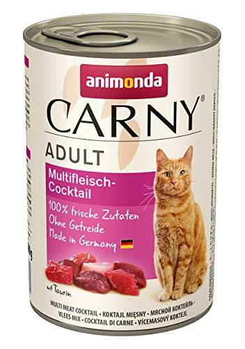 animonda Carny Adult Katzenfutter, Nassfutter für ausgewachsene Katzen, Multifleischcocktail, 6 x 400 g