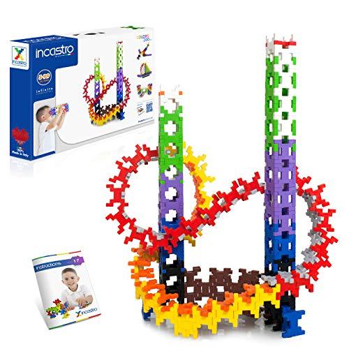 Incastro- Colors 200 Gioco di Costruzioni, Unico Mattoncino, Giochi Educativi per Bambini 5,6,7,8,9,10,11 Anni, Ispirato al Metodo Montessori, Puzzle 3D, Multicolore, 042