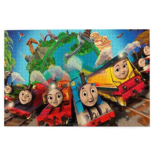 Cute Doormat Thomas And Friends Rompecabezas para adultos, 1000 piezas, rompecabezas de horizonte para niños y adultos, rompecabezas de bricolaje educativos para niños y adultos