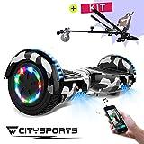 CITYSPORTS Balance Board 6.5 Pouces, Self Balance Scotter Electrique, Roues LED Light, Bluetooth, Moteur 700W