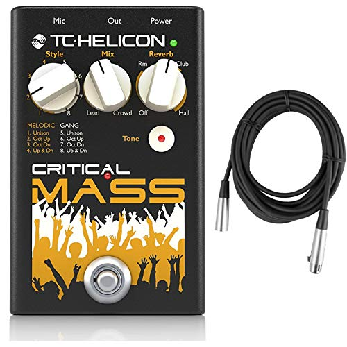 TC Helicon Critical Mass Group Sound Vocal Effects Pedal with 2 XLR Cables