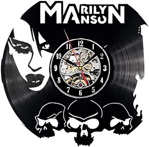 ZZLLL Regalo de la decoración del hogar del Reloj del Reloj del CD de la Banda del diseño del Reloj de Pared del Disco de Vinilo para el Ventilador
