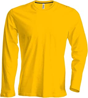 Amazon.es: Amarillo - Camisetas de manga larga / Camisetas, polos y camisas: Ropa