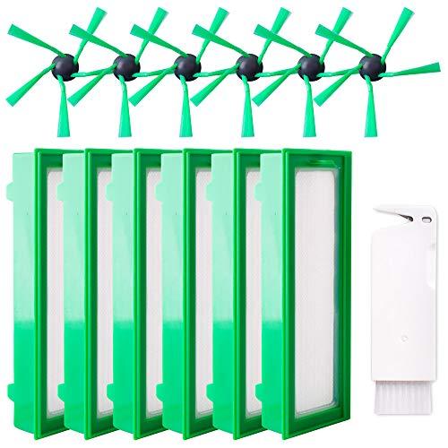 13 Stück Ersatzteile für Vorwerk Kobold VR200 VR300 6 Filter Allergiefilter 6 Seitenbürsten 1 Stück Kleine Bürste