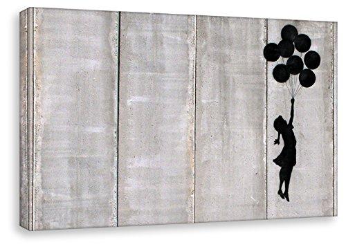 Cuadro de Banksy – Balloon Girl – Pop Art Cuadro De Impresión sobre lienzo pared de Loft de habitaciones de, 30 x 40 cm